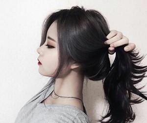 dark, girl, and makeup image