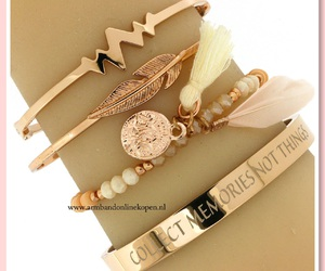 bangles, heartbeat, and rose gold image