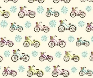 bicycle, wallpaper, and floral image