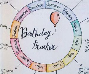 birth, birthdays, and journal image