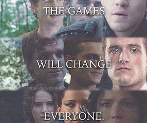 the hunger games, gale, and katniss image