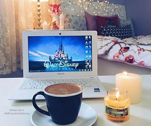 disney, coffee, and bedroom image