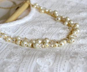 bridal necklace, etsy, and wedding jewelry image