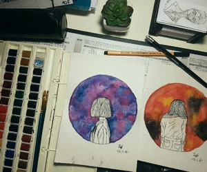 girl and watercolor image