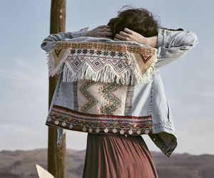 bohemian, jacket, and gypsy image