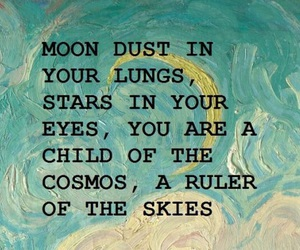 quotes, stars, and cosmos image