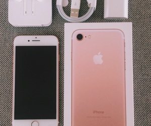 iphone, rosegold, and iphone7 image