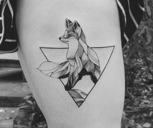 animal, Tattoos, and fox image