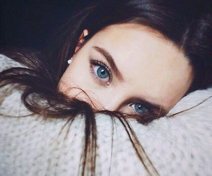 girl, eyes, and blue image