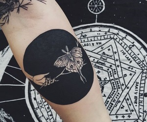 tattoo, black, and butterfly image