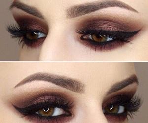 makeup, eyes, and brown image