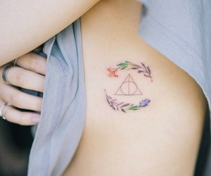 beautiful, the deathly hallows, and harry potter image