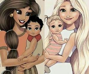 princess, baby, and disney image