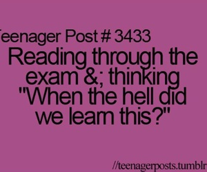 exam, teenager post, and school image