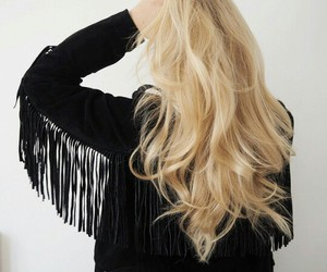blond, hairs, and franges image
