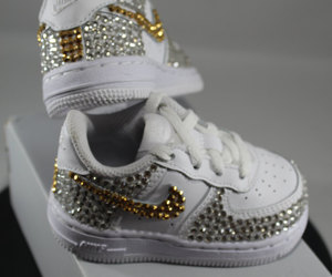 etsy, nike air force ones, and christening shoes image