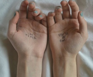 grunge, hands, and theme image