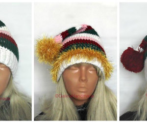 etsy, winter hats, and christmas crochet image