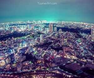 city lights, night, and photography image