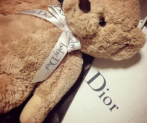 dior, teddy bear, and baby dior image