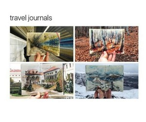 art, journal, and travel image