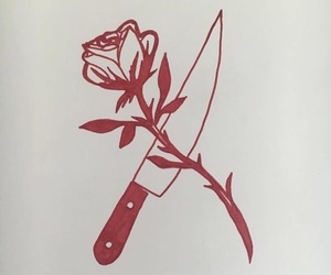 aesthetic, art, and rose image