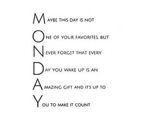 monday, quotes, and motivation image
