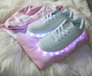 leds, sweter, and pink image