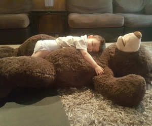 baby, bear, and cozy image