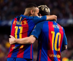fc barcelona, messi, and love them image