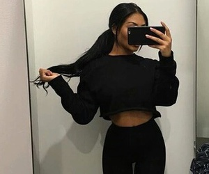 black, style, and hair image