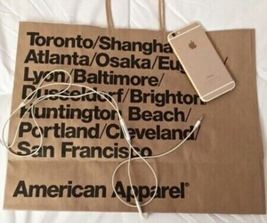 brown, iphone, and american apparel image