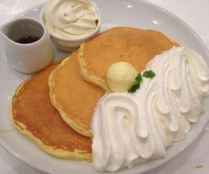 pancakes, cream, and food image
