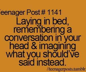 teenager post, bed, and conversation image