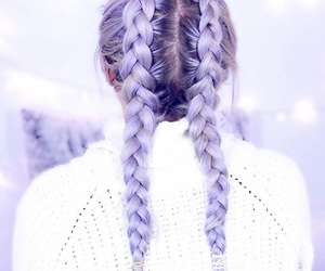 braid, girl, and love image
