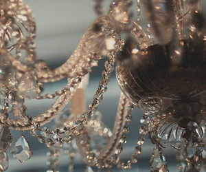 chandelier, dark, and lights image