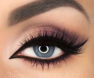 blue eyes, eyeshadow, and makeup image