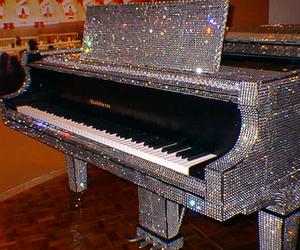 piano, diamond, and glitter image