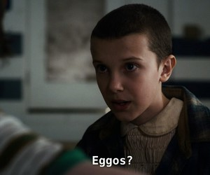 eleven, eggos, and stranger things image