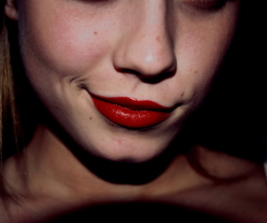 girl, lips, and red lips image