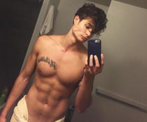 abs, Tattoos, and guy image