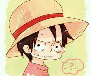 one piece, anime, and chibi image
