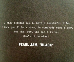 pearl jam, black, and quote image