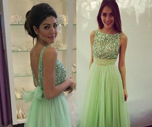dress, prom dresses, and prom gown image