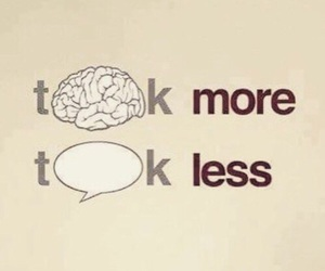 think, talk, and less image
