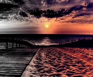 beach, sand, and sun image