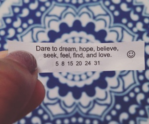 fortune, fortune cookie, and hope image