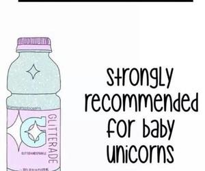 unicorn, glitter, and baby image