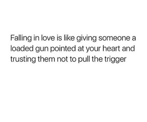 falling in love, heart, and text image