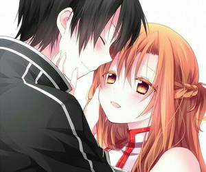 anime, sword art online, and couple image